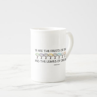 Safe With Me Tree Bone China Mug