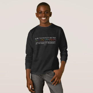 Safe With Me Tree Boy's Dark Long Sleeve T-Shirt
