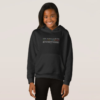 Safe With Me Tree Girl's Dark Hoodie