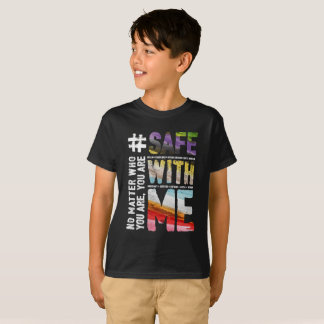 Safe With Me Watercolor Boy's Dark T-Shirt