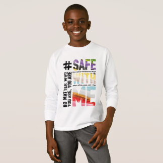 Safe With Me Watercolor Boy's Long Sleeve T-Shirt