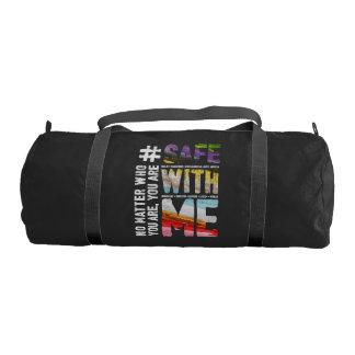 Safe With Me Watercolor Dark Duffel Bag