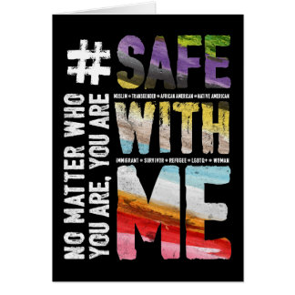 Safe With Me Watercolor Dark Greeting Card