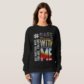 Safe With Me Watercolor Dark Women's Sweatshirt