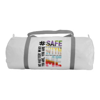 Safe With Me Watercolor Duffel Bag