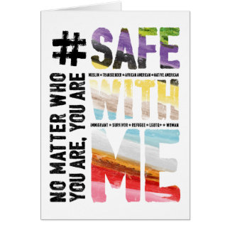 Safe With Me Watercolor Greeting Card