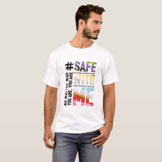Safe With Me Watercolor Men's Basic T-Shirt