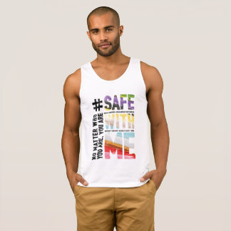 Safe With Me Watercolor Men's Basic Tank Top