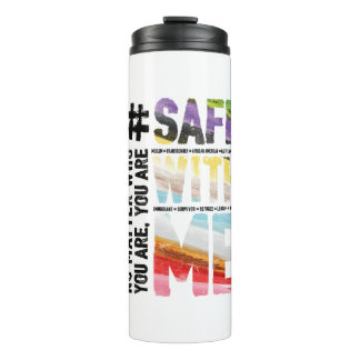 Safe With Me Watercolor Thermal Tumbler