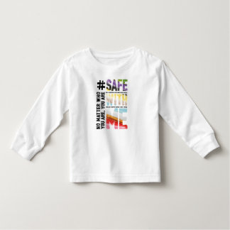 Safe With Me Watercolor Toddler Long Sleeve Tee