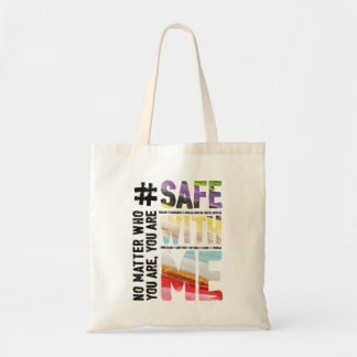 Safe With Me Watercolor Tote Bag