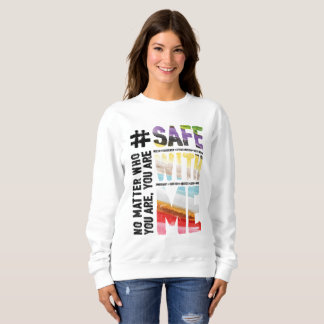 Safe With Me Watercolor Women's Basic Sweatshirt