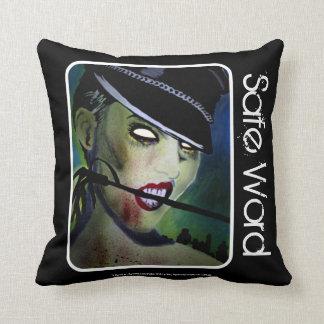 'Safe Word' Zombie (Throw)  American Mo Throw Pillow