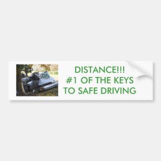 SAFER DRIVING CAR BUMPER STICKER