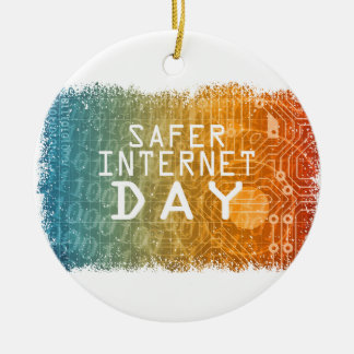 Safer Internet Day - Appreciation Day Ceramic Ornament