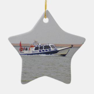 Safety Boat Ceramic Star Decoration