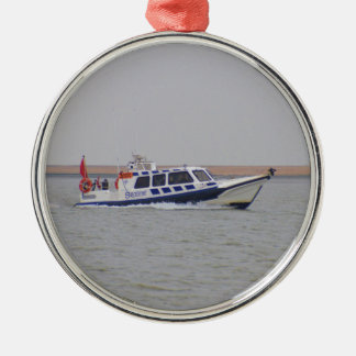 Safety Boat Silver-Colored Round Decoration