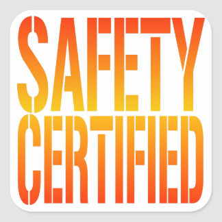 Safety Certified Square Sticker