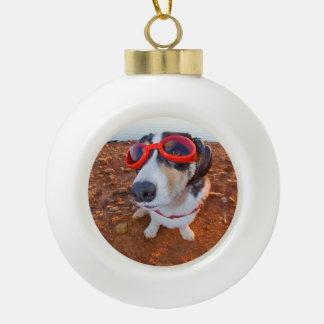 Safety Dog Ceramic Ball Decoration