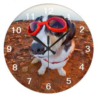 Safety Dog Large Clock
