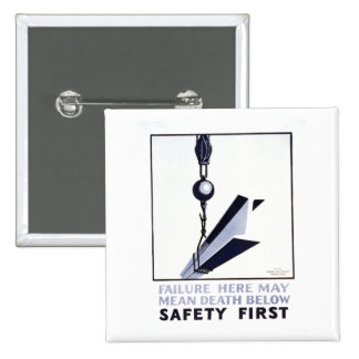 Safety First 15 Cm Square Badge