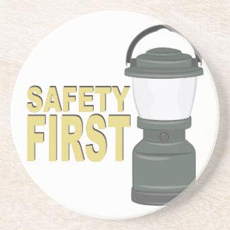 Safety First Beverage Coaster