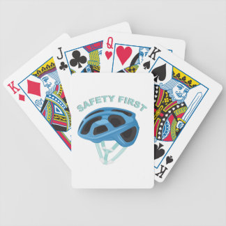 Safety First Bicycle Playing Cards
