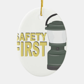 Safety First Ceramic Oval Decoration