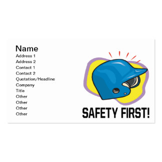 Safety First Pack Of Standard Business Cards