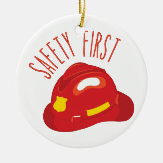 Safety First Round Ceramic Decoration