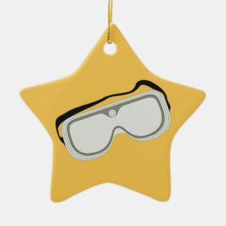 Safety Goggles Ceramic Star Decoration