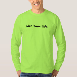 Safety Green Colour T-Shirt (Live Your Life)