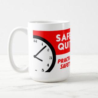 Safety Has No Quitting Time Basic White Mug