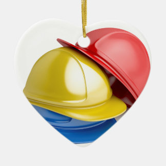 Safety helmets ceramic ornament