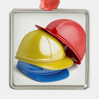 Safety helmets metal ornament