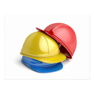 Safety helmets postcard