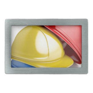 Safety helmets rectangular belt buckle
