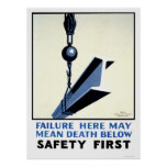 Safety In Construction 1937 WPA Poster