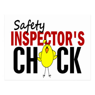 Safety Inspector's Chick Postcard
