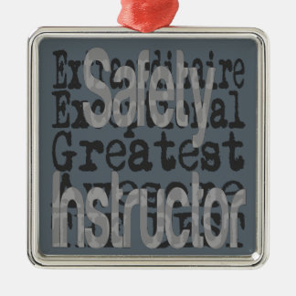 Safety Instructor Extraordinaire Silver-Colored Square Decoration
