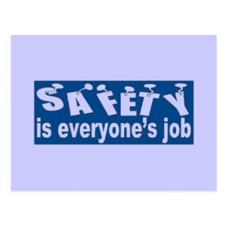 SAFETY is Everyone s Job Postcard