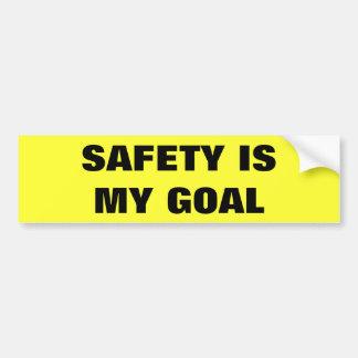 Safety Is My Goal Business Truck Bumper Sticker