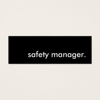 safety manager. mini business card