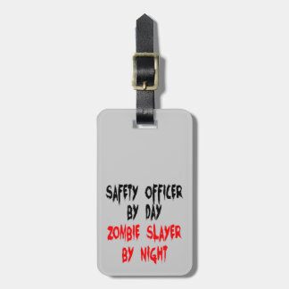 Safety Officer Zombie Slayer Luggage Tag