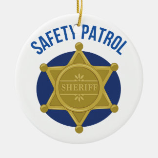 Safety Patrol Ceramic Ornament