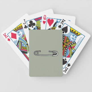 safety pin 1 bicycle playing cards