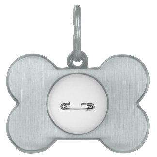 safety pin 1 pet name tag