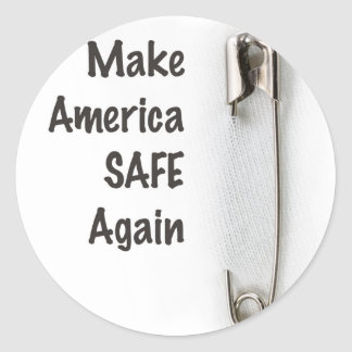 Safety Pin Classic Round Sticker