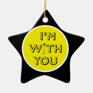 Safety Pin - I'm With You Ceramic Star Decoration