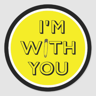 Safety Pin - I'm With You Classic Round Sticker